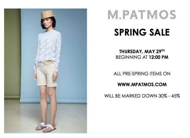 M. Patmos Online Spring Sale @ Www.MPatmos.com