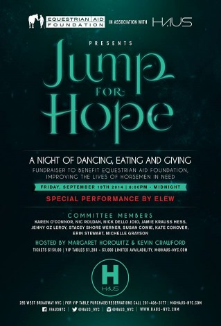 The Jump For Hope Equestrian Aid Foundation Fundraiser @ Haus | New York | New York | United States
