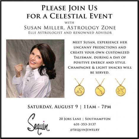 Astrologer Susan Miller Hosts Sequin Jewelry Event in Southampton @ Sequin Southampton | Southampton | New York | United States
