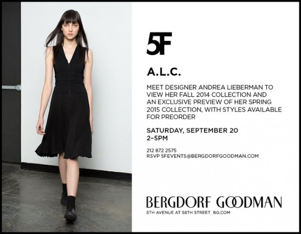 A.L.C. at Bergdorf Goodman @ Bergdorf Goodman | New York | New York | United States
