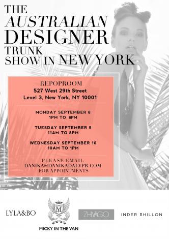 The Australian Designer Trunk Show @ Repop Room | New York | New York | United States