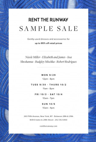 RENT THE RUNWAY Sample Sale @ 260SAMPLESALE | New York | New York | United States