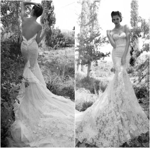 Gorgeous-Sexy-sweetheart-mermaid-inbal-dror-Bridal-wedding-dresses-2013-chapel-train-backless-Spaghetti-straps-Free