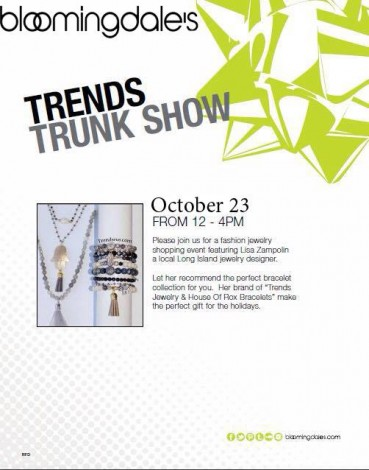 Trendsrus Trunk Show @ Bloomingdale's Roosevelt Field Mall | Westbury | New York | United States