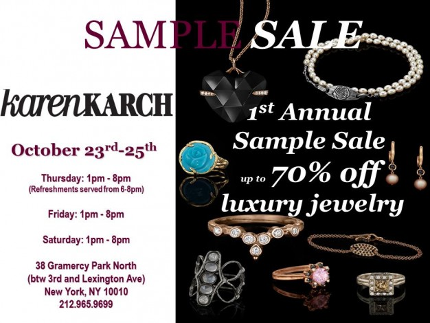 Karen Karch Sample Sale @ Karen Karch Boutique | New York | New York | United States