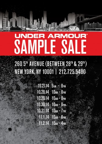 UNDER ARMOUR SAMPLE SALE @ 260SAMPLESALE | New York | New York | United States