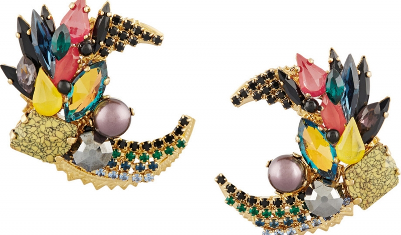 VICKISARGE Gold plated crystal earrings