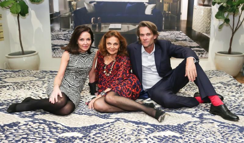 Margaret Russell, Diane von Furstenberg, Christopher Sharp