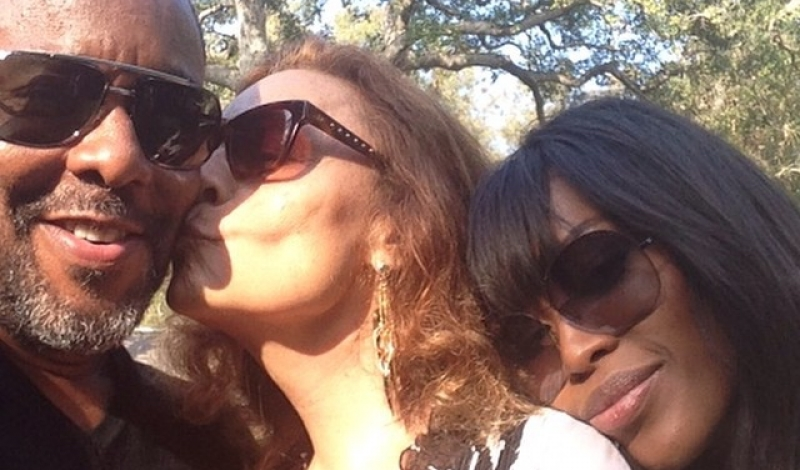 DVF's Instagram snap with Lee Daniels and Naomi Campbell