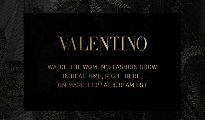 Valentino FW 15 Live Stream