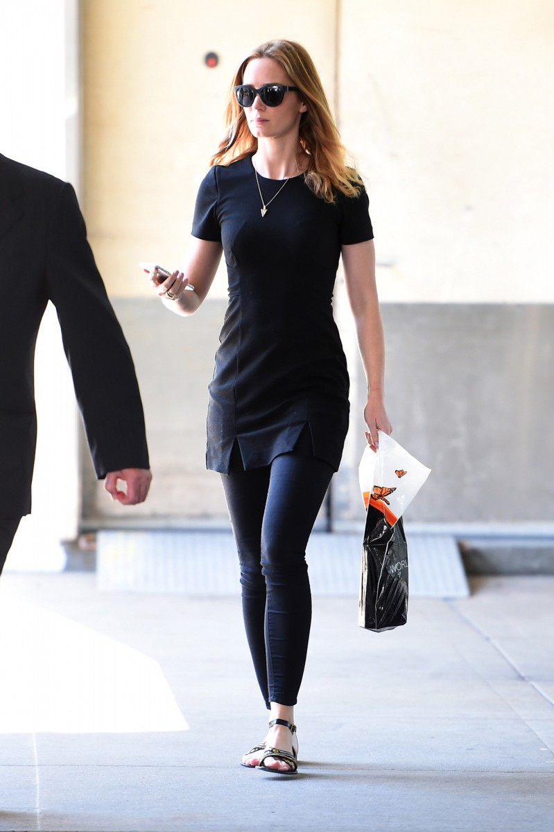 Emily Blunt Wearing Giorgio Armani