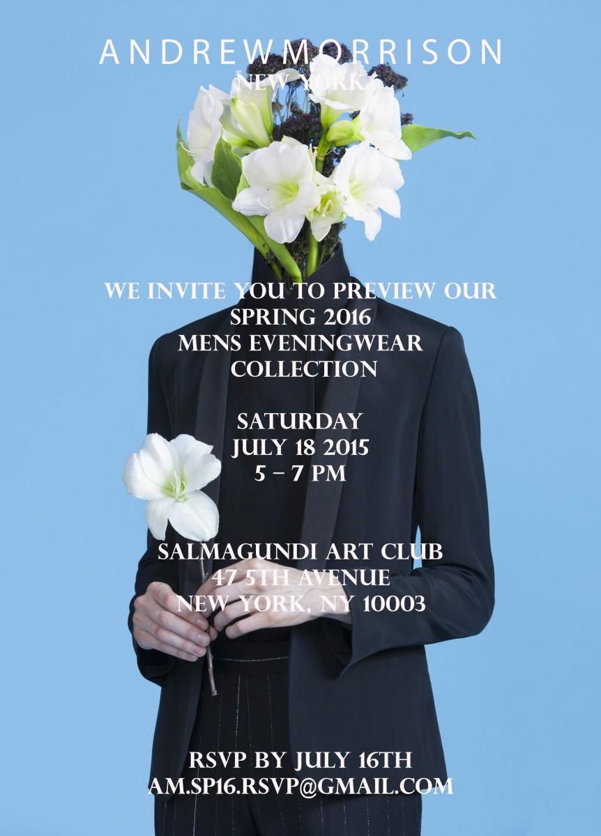 ANDREW MORRISON Spring 2016 Invite