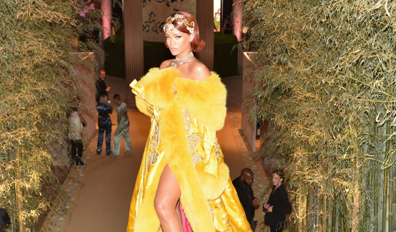 Rihanna, (wearing Guo Pei)