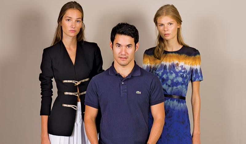 Joseph Altuzarra with Josephine Le Tutour and Alexandra Elizabeth