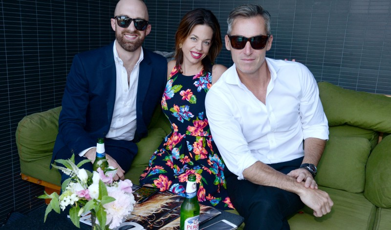 Ryan Brown, Jennifer Kiffer, Bill Wackermann== The Daily Celebrates Covergirl Toni Garrn and the Summer Premiere Issue Launch Party sponsored by Cointreau== Hotel Americano, NYC== June 10, 2015== ©Patrick McMullan== Photo - Clint Spaulding/PatrickMcMullan.com== ==
