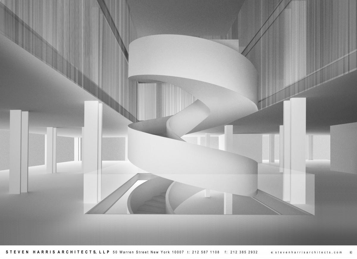 Chelsea Flagship Staircase Rendering