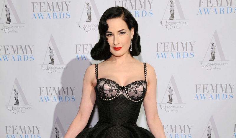NEW YORK, NY - FEBRUARY 02:  Dita Von Teese attends the 2016 Femmy Awards on February 2, 2016 in New York City.  (Photo by Craig Barritt/Getty Images for The Underfashion Club)
