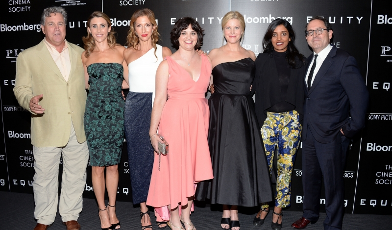 "Tom Bernard, Sarah Megan Thomas, Alysia Reiner, Amy Fox, Anna Gunn, Meera Menon, Michael Barker==The Cinema Society with Bloomberg & Thomas Pink Host a Screening of Sony Pictures Classics' ""Equity""==Museum of Modern Art, NYC==July 26, 2016==©Patrick McMullan==Photo - Clint Spaulding/PMC== == Tom Bernard; Sarah Megan Thomas; Alysia Reiner; Amy Fox; Anna Gunn; Meera Menon; Michael Barker"