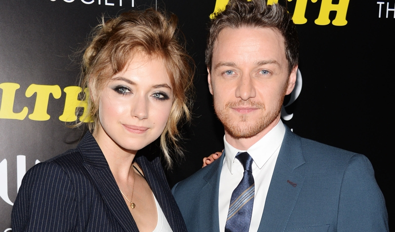 Imogen Poots and James McAvoy