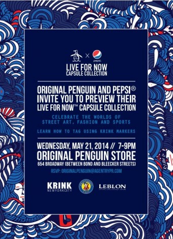 Original Penguin and Pepsi Invite You To Preview Live For Now @ Original Penguin Store | New York | New York | United States