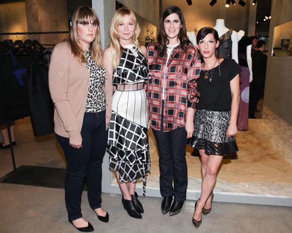 KIRSTEN DUNST and NEVENA BORISSOVA of CURVE Host Kate and Laura Mulleavy of RODARTE for a Signing of Their Book – RODARTE