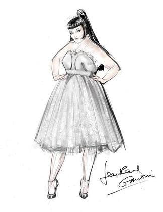 Jean Paul Gaultier Reveals His Beth Ditto Wedding Dress Sketch