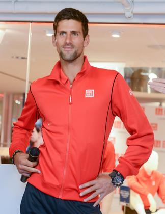 Novak Djokovic Creates A Scene Modeling For Uniqlo Daily Front Row