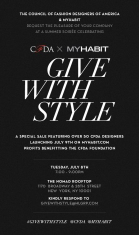 CFDA And MyHabit Style Event @ Private Location | New York | New York | United States