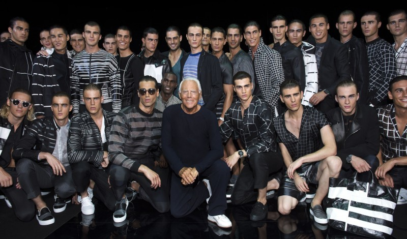 Giorgio Armani and The Boys