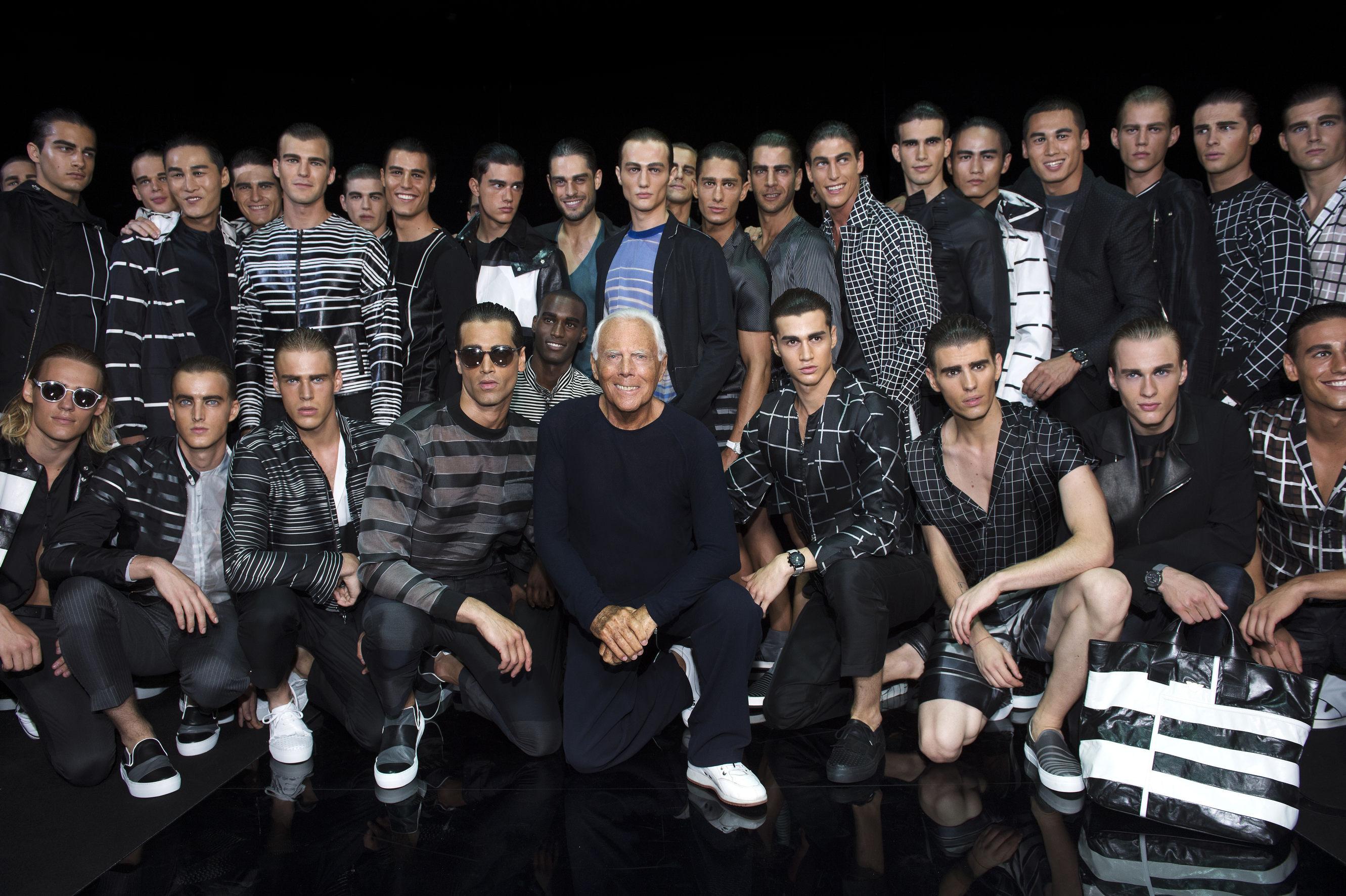 Giorgio Armani and The Boys