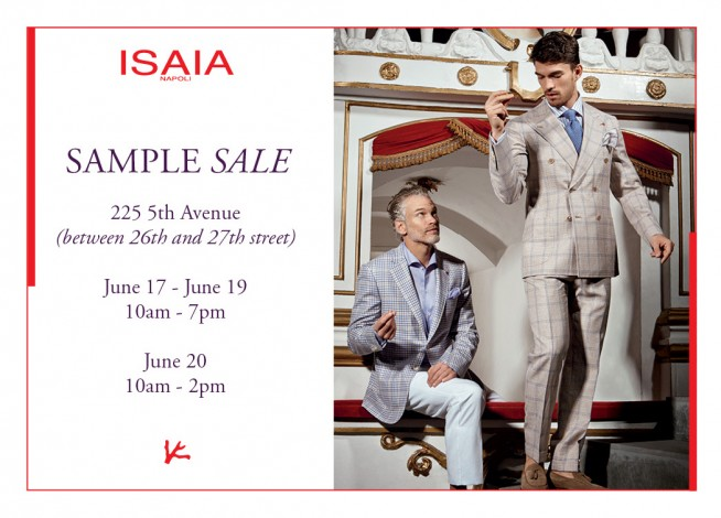 ISAIA NAPOLI SAMPLE SALE @ 260 SAMPLE SALE  | New York | New York | United States