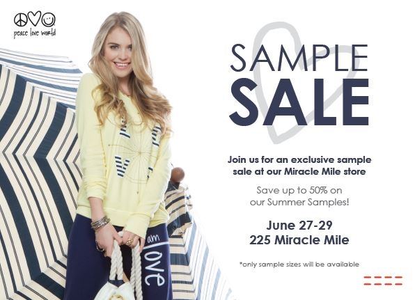 Peace Love World Hosts Summer Sample Sale at Flagship Miracle Mile Location @ Peace Love World Miracle Mile  | Coral Gables | Florida | United States