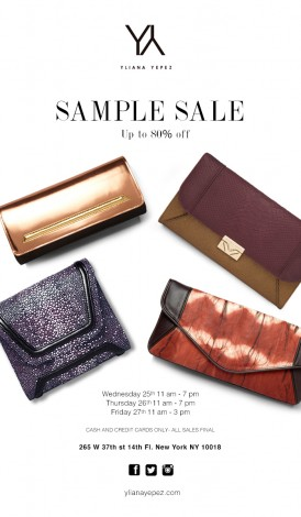 YLIANA YEPEZ Sample Sale @ New York | New York | United States