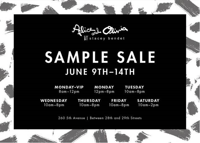 alice + olivia Sample Sale @ 260 Sample Sale | New York | New York | United States