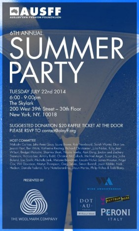 The Australian Fashion Foundation 6th Annual Summer Party @ The Skylark | New York | New York | United States