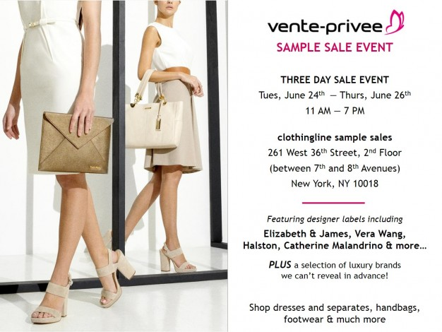 vente-privee's Sample Sale Event @ clothingline | New York | New York | United States