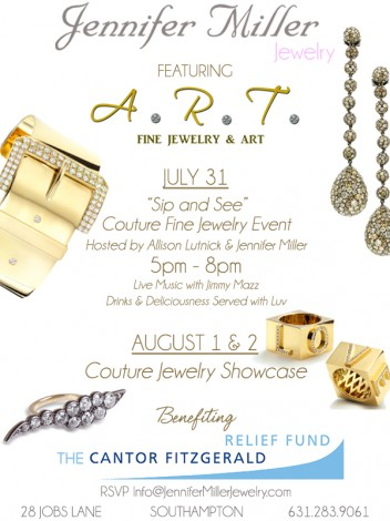Jennifer Miller Southampton to host A.R.T. Fine Jewelry & Couture Jewelry Pop-Up Shop @ Jennifer Miller Jewelry | Southampton | New York | United States