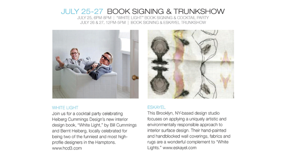 White Light Book Signing and Eskayel Trunk Show at Urban Zen Sag Harbor @ Urban Zen Sag Harbor | Sag Harbor | New York | United States