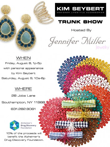 Jennifer Miller Southampton to host Kim Seybert Pop-Up Shop @ Jennifer Miller Jewelry Southampton | Southampton | New York | United States