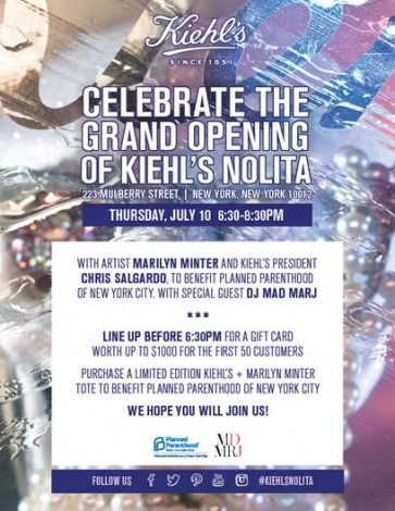 Celebrate The Grand Opening Of Kiehl's Nolita  @ Kiehl's Nolita  | New York | New York | United States