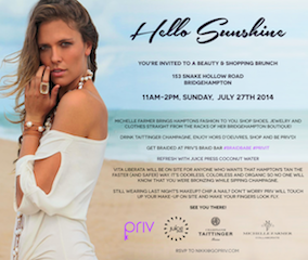 Beauty & Shopping Brunch Presented by PRIV and Michelle Farmer @ Bridgehampton | New York | United States