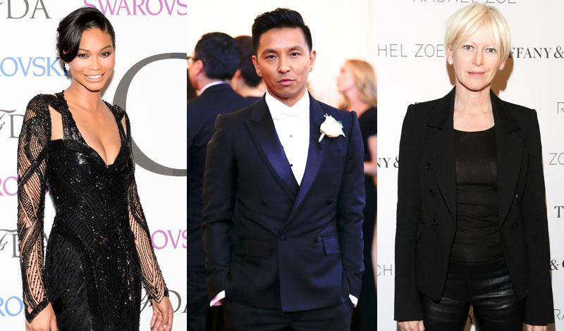 Chanel Iman, Prabal Gurung, Joanna Coles
