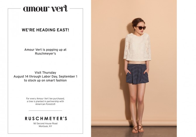 Amour Vert Pop-Up Shop At Ruschmeyer's @ Ruschmeyer's | Montauk | New York | United States