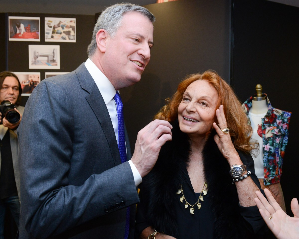 Mayor De Blasio Visits the CFDA Fashion Incubator