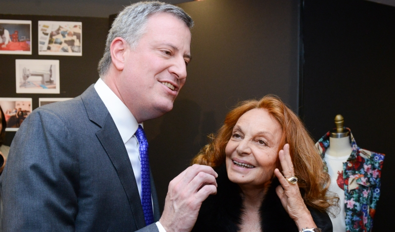 Mayor De Blasio Visits the CFDA Fashion Incubator