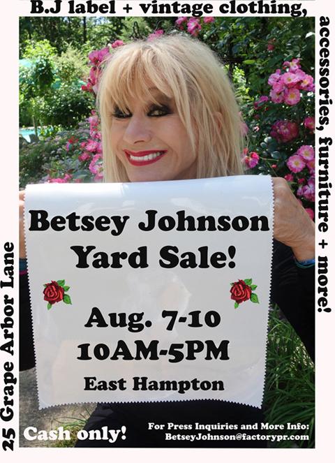 BJ Hamptons Yard Sale
