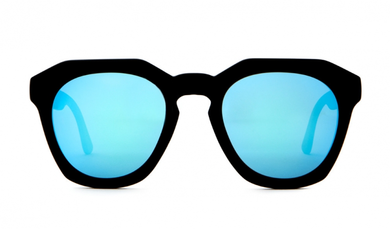 CRAP_Eyewear-The_No_Wave-Flat_Black_Blue_Reflective_Lens-front