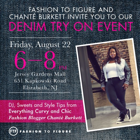 Fashion to Figure and Chanté Burkett wDenim Try on Event  @ Fashion to Figure | Elizabeth | New Jersey | United States