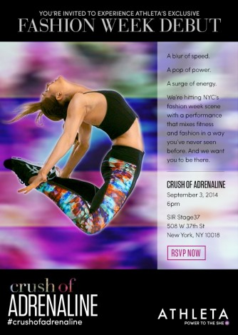 Athleta NYFW: Crush Of Adrenaline @ SIR Stage | New York | New York | United States