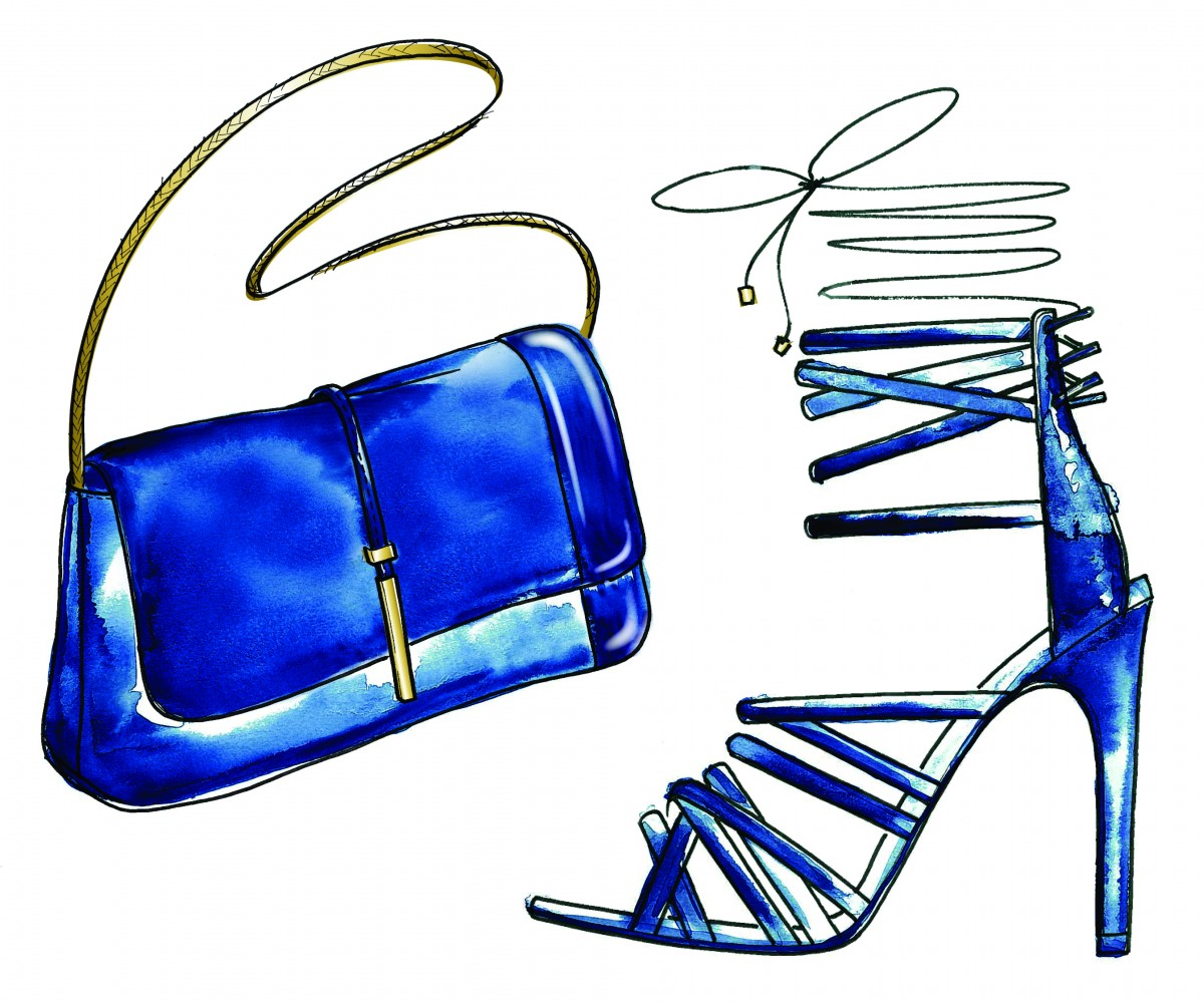 MISHA NONOO x ALDO RISE_clutch and stiletto watercolor